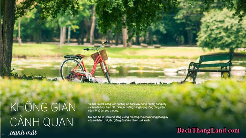 Không gian xanh tropical city FLC Hạ Long
