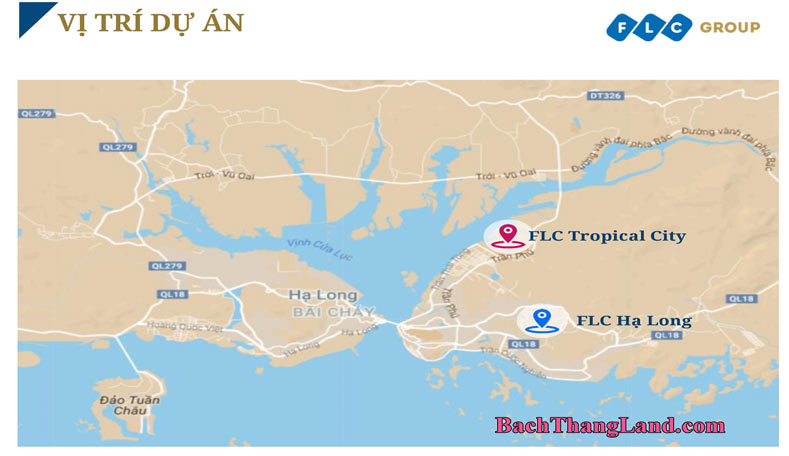 Vị trí của khu đô thị FLC Hạ Long Tropical City