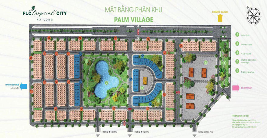 Phân khu FLC Palm Village Tropical city Hạ Long