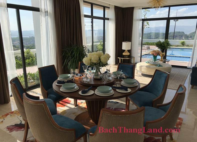 Phòng ăn khu biệt thự nghỉ dưỡng FLC Hạ Long