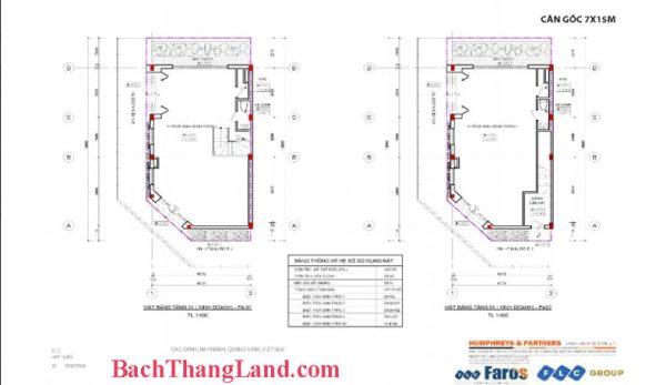 Thiết kế mặt bằng căn góc nhà phố 105 m2 FLC Tropical city Hạ Long