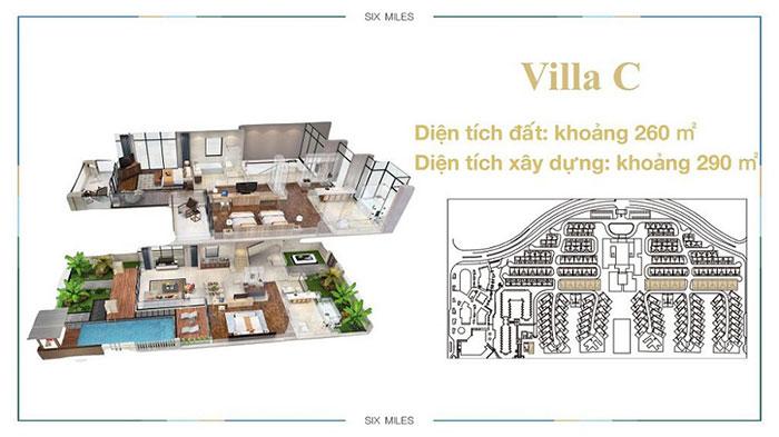 mẫu villa C 6 miles coast