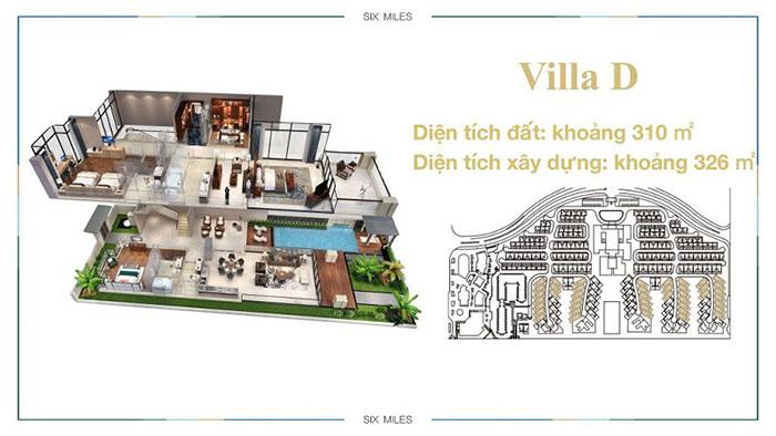 mẫu villa D1 6 miles coast