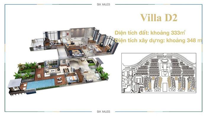 mẫu villa D2 6 miles coast